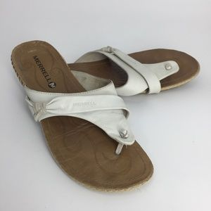 MERREL J82290 1013 WHITE LEATHER SANDALS SHOES